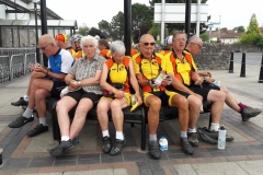 Cake ride part 2. Steve, Marion, Val and Pete at Thornbury(1)