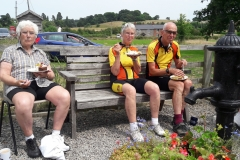 Cake ride part 3. Marion, Daphne and Dave at Hill(1)