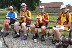 Cake ride part 3. Steve, John, Alan, and Kay at Hill