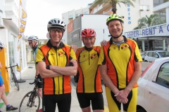 Mallorca - Dave, Tony and James ready for the off