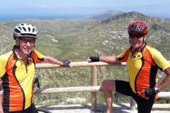 Mallorca - Dave and Chris high above cala Torta