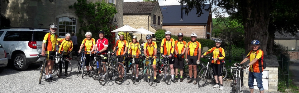 Tuesday riders at the Vestry Cafe Uley in May